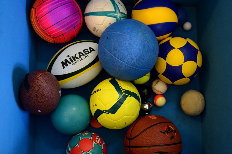 Jogo interativo cada bola seu desporto