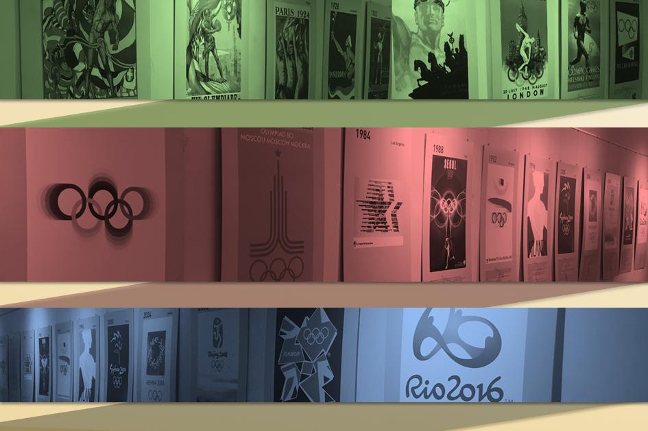Imagem alusiva à exposição Os cartazes dos Jogos Olímpicos
